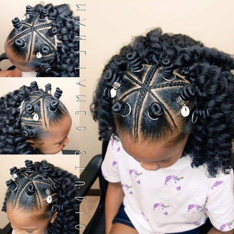 Pin On Kids Styles within Mohawk Hairstyles With Braided Bantu Knots