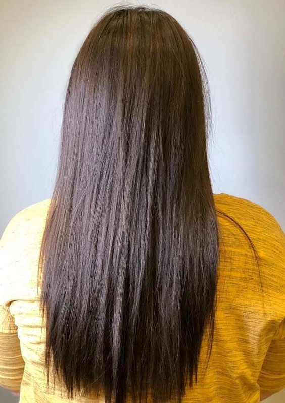 Pin On Long Hairstyles 2019 regarding Sleek Straight And Long Layers Hairstyles