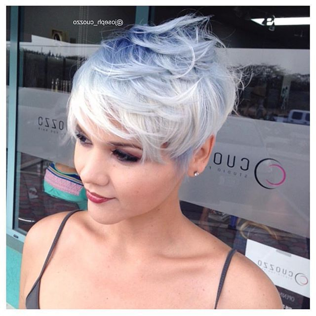 Pin On My Hair pertaining to Pastel Pixie Haircuts With Curly Bangs
