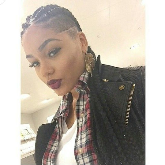 Pin On Naturally Poppin Inside Long Hair Mohawk Hairstyles With Shaved Sides (View 2 of 25)