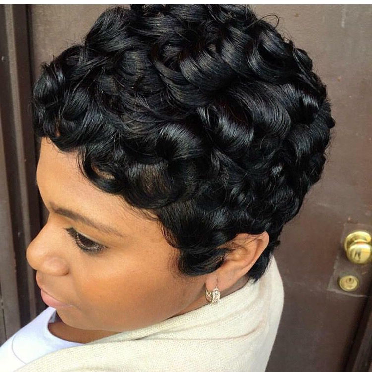 Pin On Pixie Girls within Short Pixie Haircuts With Relaxed Curls
