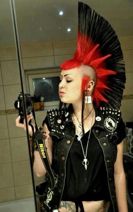 Pin On Punx with regard to Rocker Girl Mohawk Hairstyles