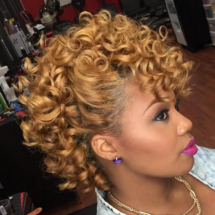 Pin On Sexy Hair throughout Elegant Curly Mohawk Updo Hairstyles