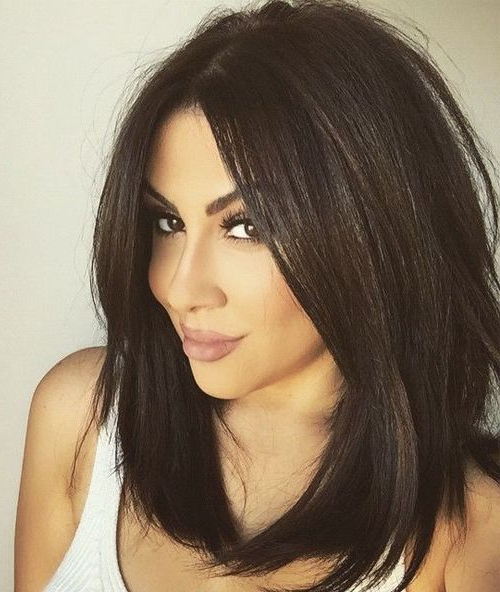 Pin On Short Hairstyles throughout Chin-Length Bob Hairstyles With Middle Part