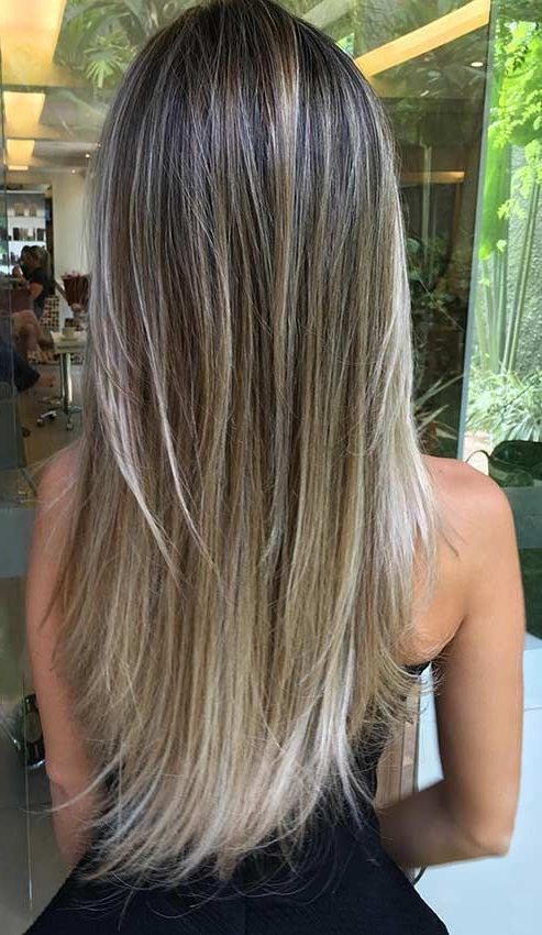 Pin On Stayglam Hairstyles regarding Sleek Straight And Long Layers Hairstyles