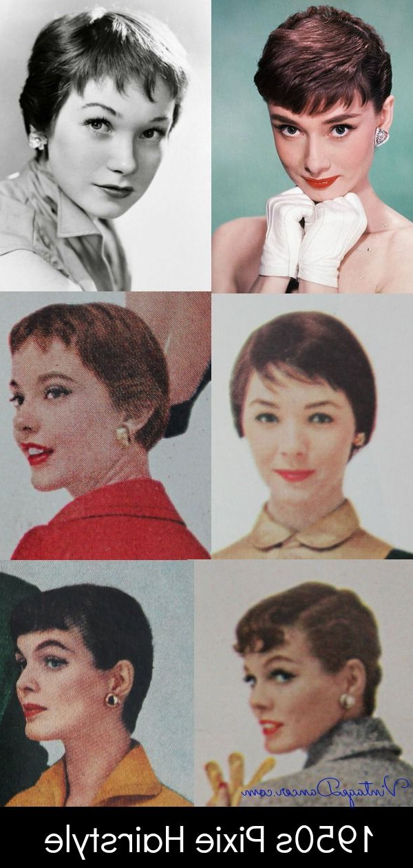 Pin On Vintage Hairstyles And Makeup intended for Vintage Pixie Haircuts