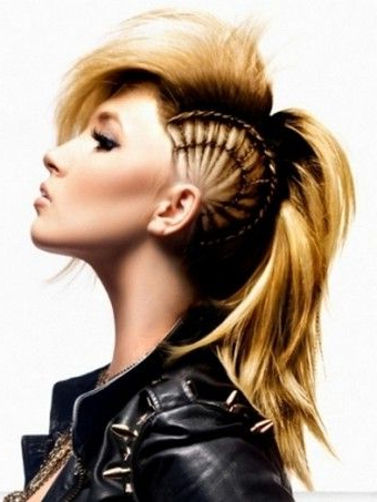 Pindebi Zick On Hairstyles 1 | Mohawk Hairstyles, Hair For Punk Mohawk Updo Hairstyles (View 4 of 25)