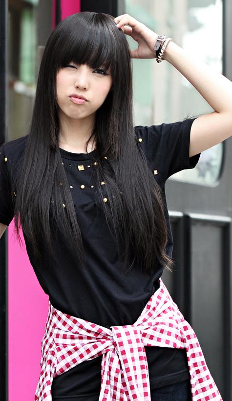 Pinfmag On Korean Hairstyles | Asian Hair, Long Hair Throughout Blunt Bangs Asian Hairstyles (View 4 of 25)