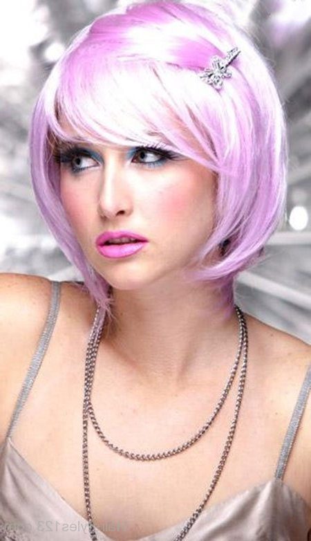 Pink Bob Hairstyle intended for Pink Bob Haircuts