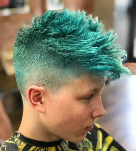 Pinterest – ????????? in Turquoise Side-Parted Mohawk Hairstyles