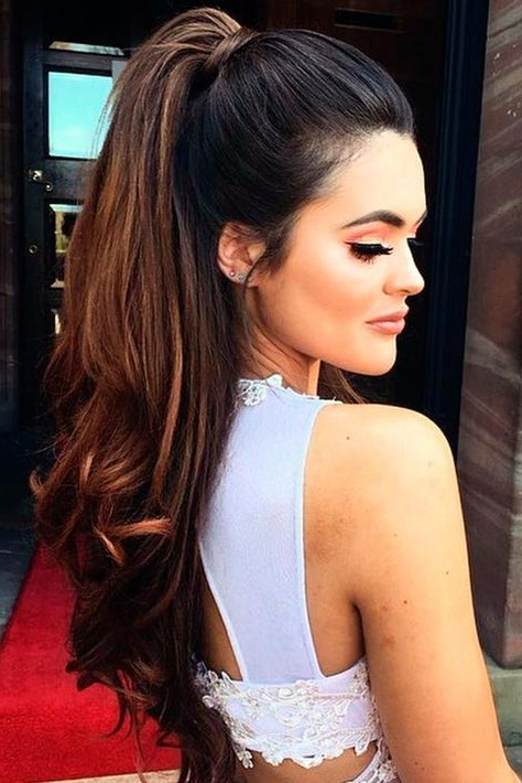 Featured Photo of High Looped Ponytail Hairstyles With Hair Wrap