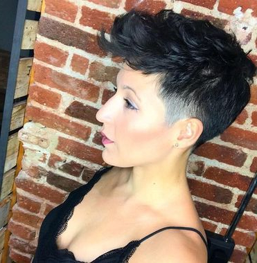 P>Mohawk-Inspired Cut</p>   New Style In 2019   Very Short intended for Asymmetrical Chop Mohawk Haircuts