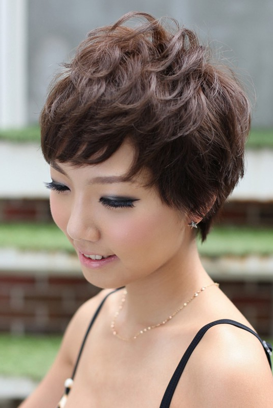 Pretty Pin Curl Pixie Cut – Hairstyles Weekly Regarding Textured Pixie Asian Hairstyles (View 8 of 25)