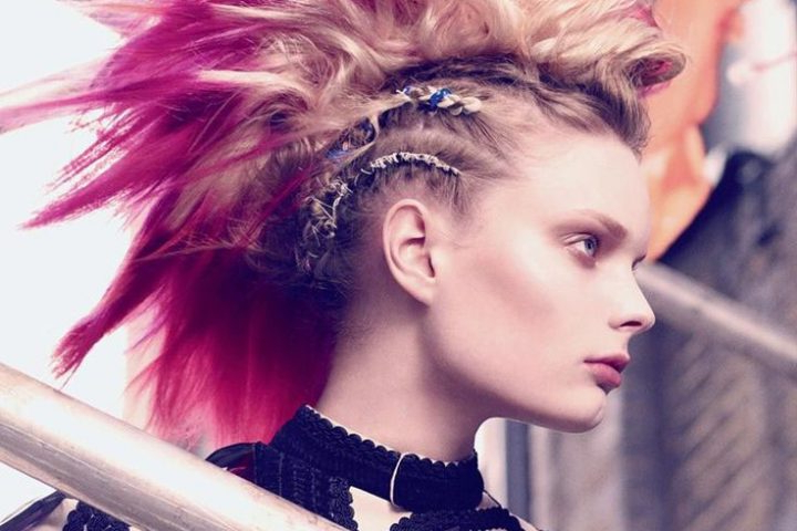 Punk Hiarstyles For Women | Hairstylo Throughout Punk Mohawk Updo Hairstyles (View 21 of 25)