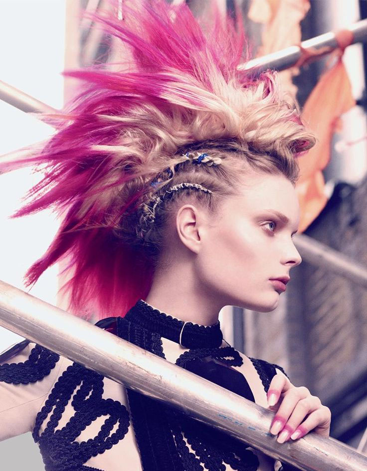 Punk Hiarstyles For Women | Hairstylo with Blonde Teased Mohawk Hairstyles
