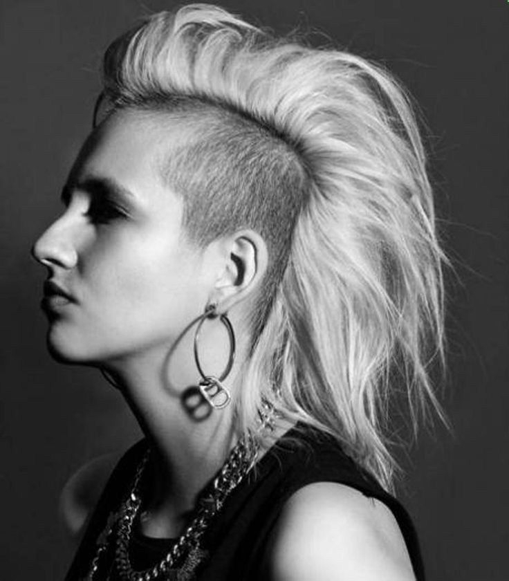 Punk Medium Hairstyles | Side Shaved Punk Hairstyles For with regard to Medium Length Mohawk Hairstyles With Shaved Sides