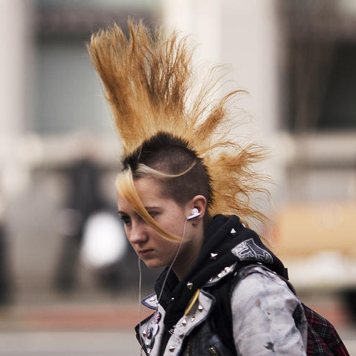 Punk Rock Hairstyles ~ New Hairstyles throughout Rocker Girl Mohawk Hairstyles