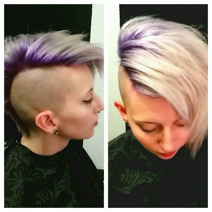 Purple Shadowroot Icy Silver Mokawksarah Shelton Www within Icy Purple Mohawk Hairstyles With Shaved Sides