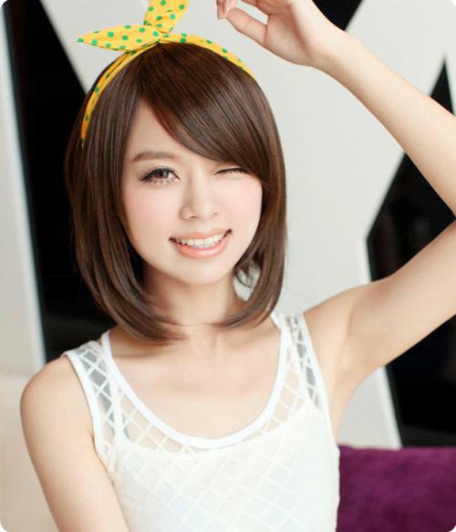 Qiuyy Hairstyle Ideas: 2014 Cute Short Asymmetrical Bob Intended For Asymmetrical Bob Asian Hairstyles (View 14 of 25)