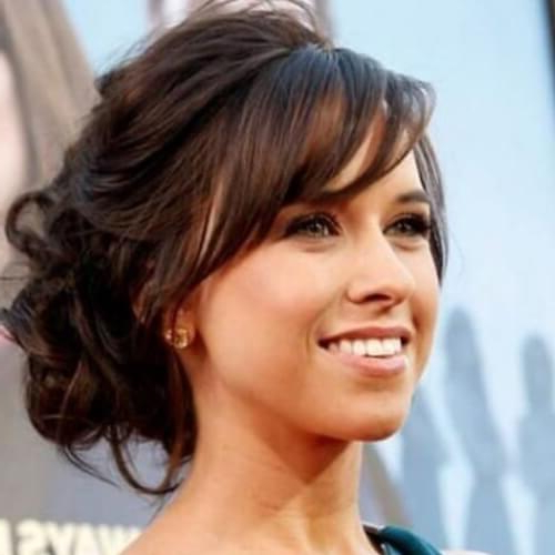 Rock Those Side Swept Bangs & Do It In Style: 50 Ideas Regarding Elegant Messy Updos With Side Bangs (View 4 of 25)