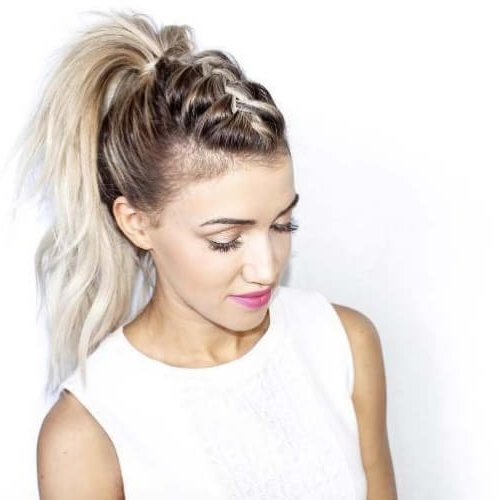 See 50 Ways You Can Rock Braided Mohawk Hairstyles | Hair Inside Ponytail Mohawk Hairstyles (View 13 of 25)