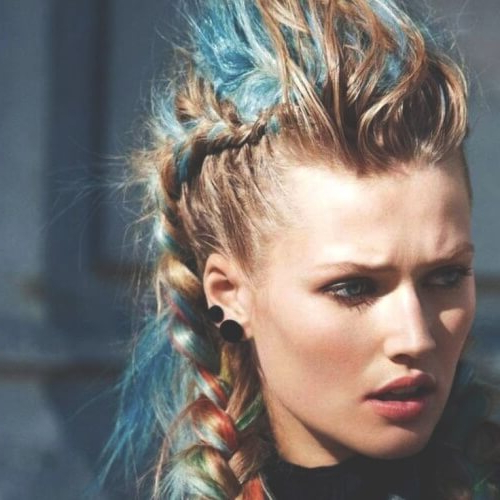 See 50 Ways You Can Rock Braided Mohawk Hairstyles | Hair Inside Punk Mohawk Updo Hairstyles (View 9 of 25)