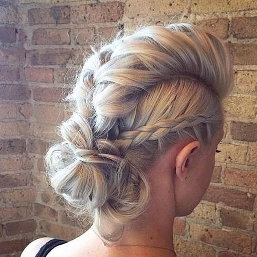 See 50 Ways You Can Rock Braided Mohawk Hairstyles | Hair Intended For Braided Mohawk Bun Hairstyles (View 14 of 25)