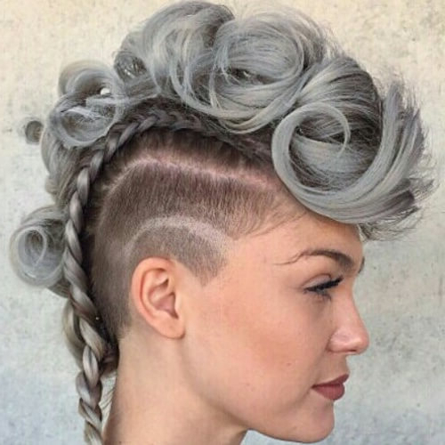 See 50 Ways You Can Rock Braided Mohawk Hairstyles | Hair Pertaining To Long Hair Mohawk Hairstyles With Shaved Sides (View 19 of 25)