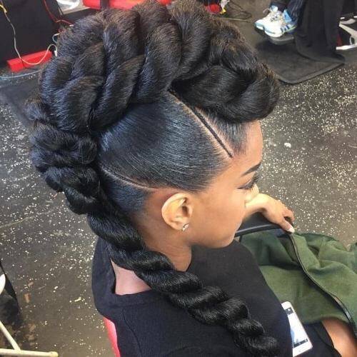 See 50 Ways You Can Rock Braided Mohawk Hairstyles | Hair Pertaining To Mohawk Updo Hairstyles For Women (View 13 of 25)
