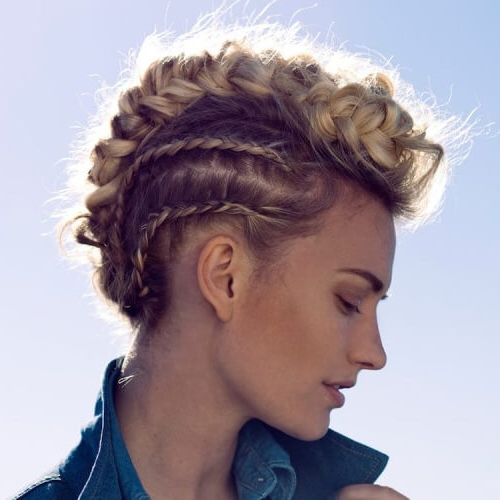 See 50 Ways You Can Rock Braided Mohawk Hairstyles | Hair Regarding Punk Mohawk Updo Hairstyles (View 16 of 25)