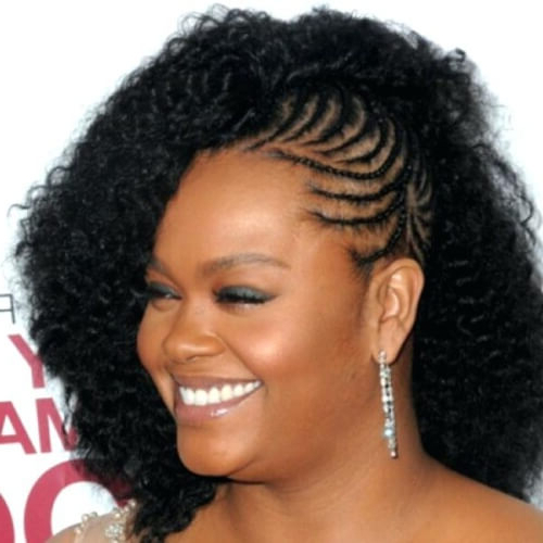 See 50 Ways You Can Rock Braided Mohawk Hairstyles | Hair With Braids And Curls Mohawk Hairstyles (View 14 of 25)