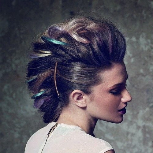 See 50 Ways You Can Rock Braided Mohawk Hairstyles | Hair With Punk Mohawk Updo Hairstyles (View 20 of 25)