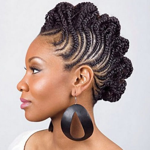 See 50 Ways You Can Rock Braided Mohawk Hairstyles   Hair With Regard To Big Curly Updo Mohawk Hairstyles (View 20 of 25)