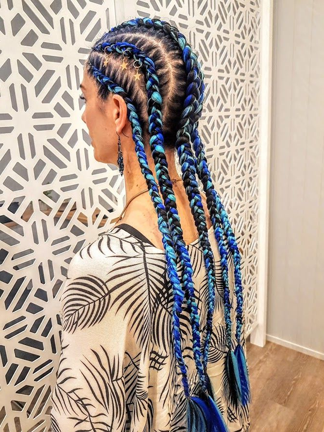 Featured Photo of Blue Braided Festival Hairstyles