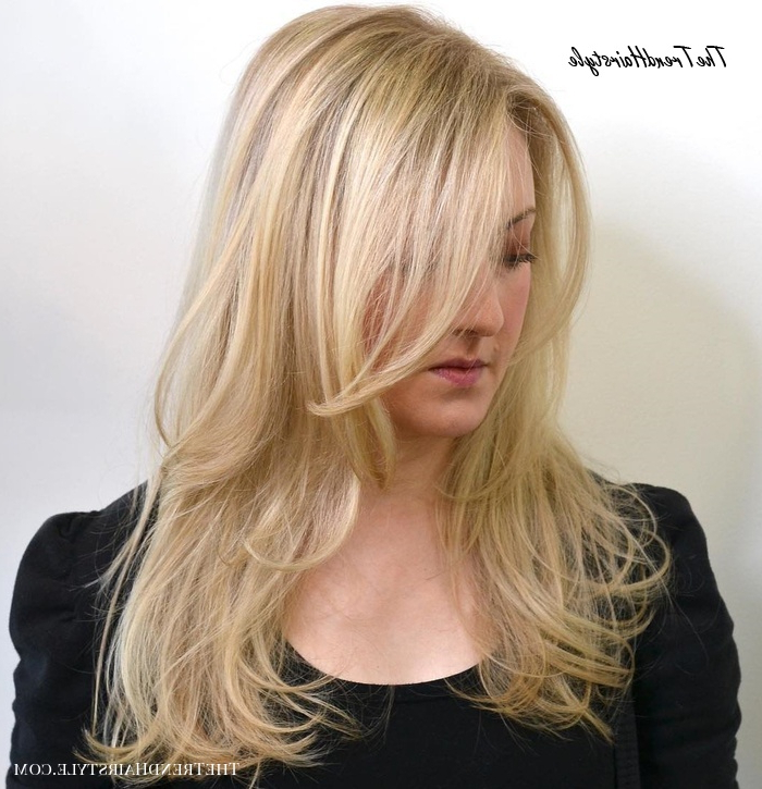 Shaggy Blonde Waves – 40 Picture Perfect Hairstyles For Long Throughout Easy Side Downdo Hairstyles With Caramel Highlights (View 20 of 25)