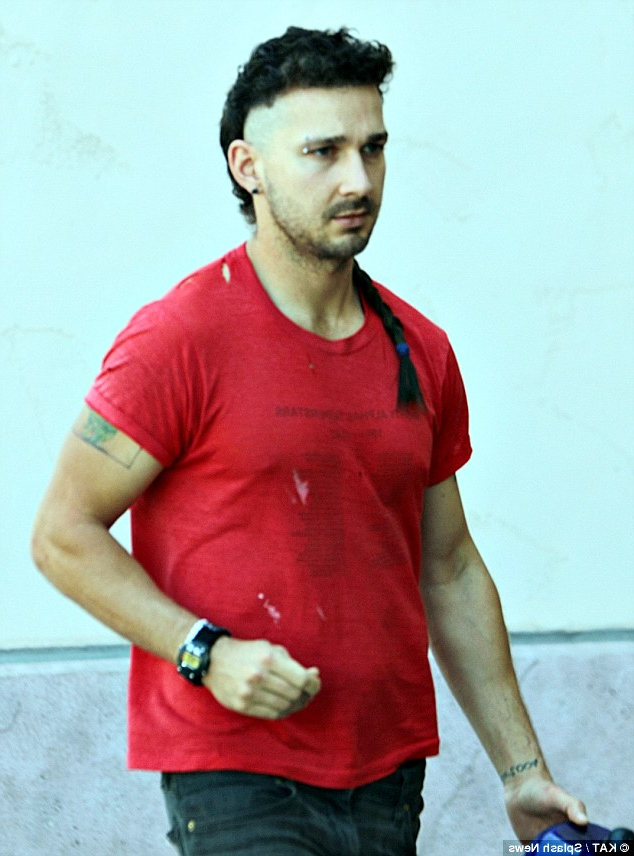 Shia Labeouf Adds To His Mohawk Hairstyle As He Gets The In Long Hair Roll Mohawk Hairstyles (View 25 of 25)