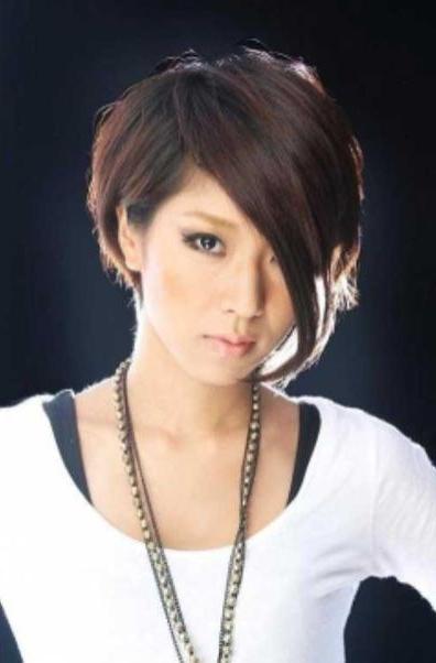 Short Asymmetrical Bobs Hairstyle Haircut 52 | ??????? ? Inside Asymmetrical Bob Asian Hairstyles (View 7 of 25)