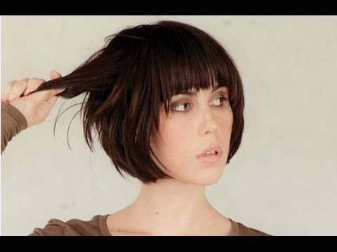 Short Bob Hairstyle With Fringe – Youtube Pertaining To Hort Bob Haircuts With Bangs (View 10 of 25)