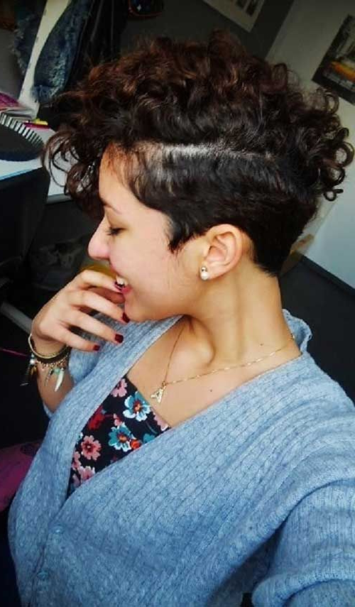 Short Curly Mohawk In 2019   Curly Mohawk Hairstyles, Short Within Messy Curly Mohawk Haircuts (View 2 of 25)