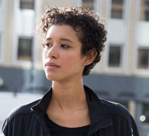 Short Haircuts For Curly Hair: 24 Short Cuts For Any Curl Pertaining To Pixie Mohawk Haircuts For Curly Hair (View 17 of 25)