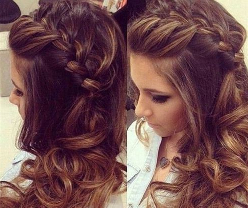 Side French With Downdo Side Braid Hairstyles – Askhairstyles Intended For Easy Side Downdo Hairstyles With Caramel Highlights (View 5 of 25)