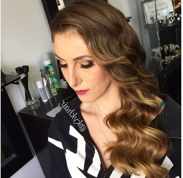 Side Swept Vintage Waves   Wedding Hair Ideas 2015 In 2019 In Retro Side Hairdos With Texture (View 6 of 25)