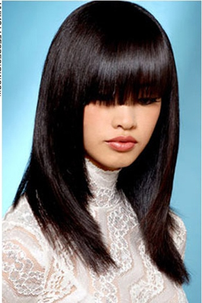 Sleek And Sexy Black Straight Hairstyle | Hairstyles Throughout Eye Covering Bangs Asian Hairstyles (View 3 of 25)