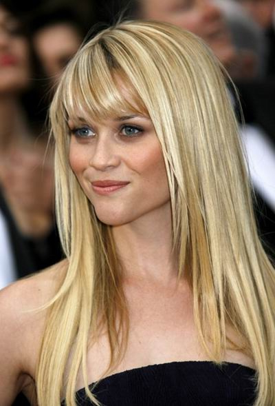 Straight Bangs Hairstyle For Round Face – Women Hairstyles With Long Straight Layered Hairstyles With Fringes (View 7 of 25)