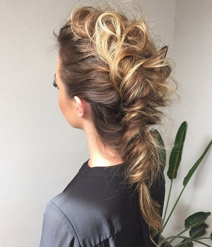 Teased French Braid | Hair | Hair Styles, Mohawk Braid, Hair Regarding Teased Long Hair Mohawk Hairstyles (View 23 of 25)