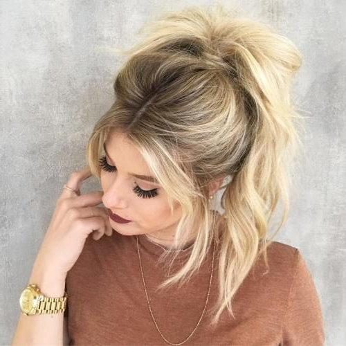 The 20 Most Alluring Ponytail Hairstyles | Messy Ponytail Inside Messy Voluminous Ponytail Hairstyles With Textured Bangs (View 14 of 25)