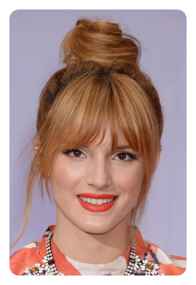 The 79 Sexiest Wispy Bangs To Inspire Your Makeover In Elegant Messy Updos With Side Bangs (View 20 of 25)