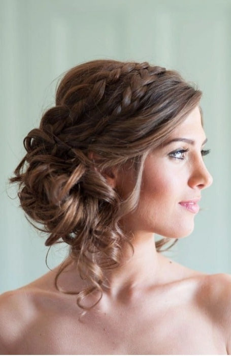 The Best Messy Bun Hairstyles For Every Hair Length – The Throughout Elegant Messy Updos With Side Bangs (View 23 of 25)