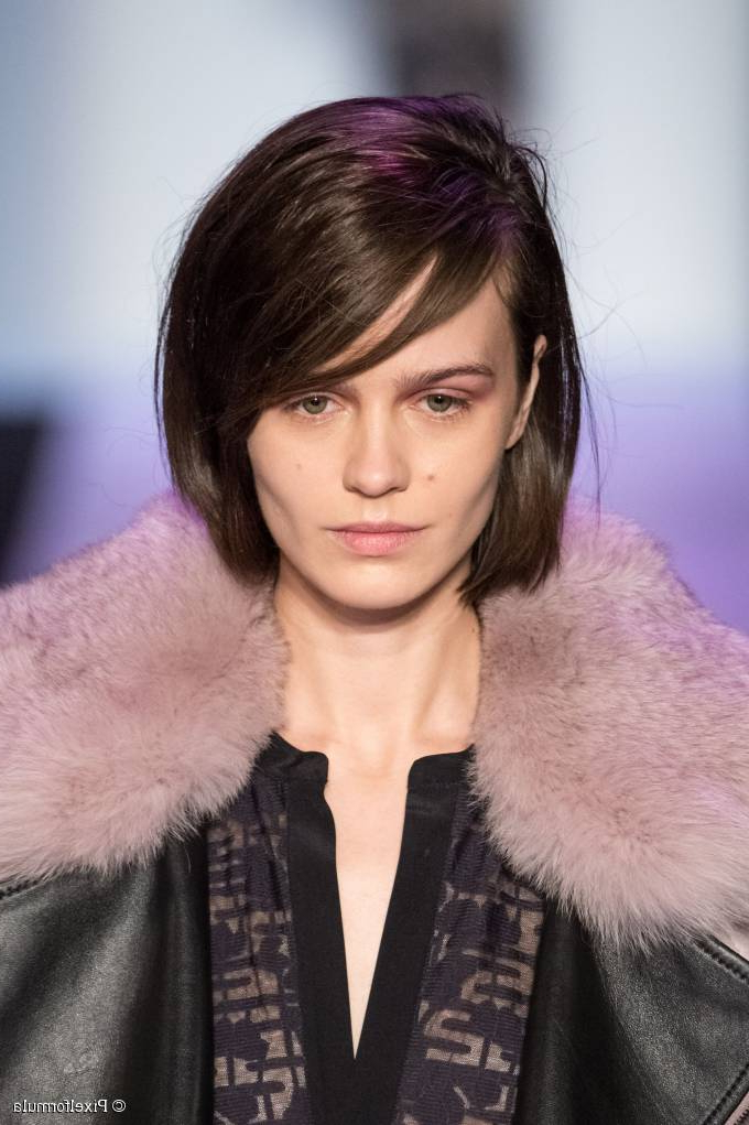 The Bob With Side Swept Bangs For Messy Short Bob Hairstyles With Side Swept Fringes (View 25 of 25)