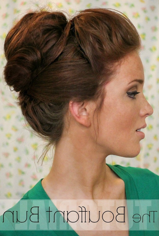 The Freckled Fox: Hair Tutorial: The Bouffant Bun Within Elegant High Bouffant Bun Hairstyles (View 3 of 25)